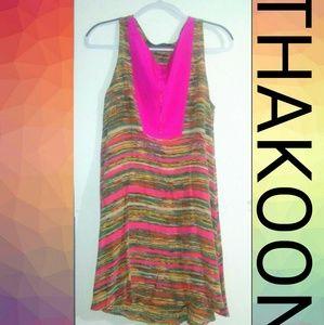 THAKOON 100 % Silk Mini Dress Size - 8